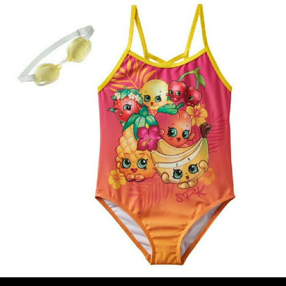 new specials top-rated professional discount collection LAST ONE Shopkins Bathing Suit Girls New NWT